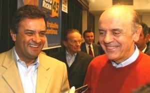 Governadores tucanos José Serra e Aécio Neves não chegaram a um acordo sobre as eleições de 2010